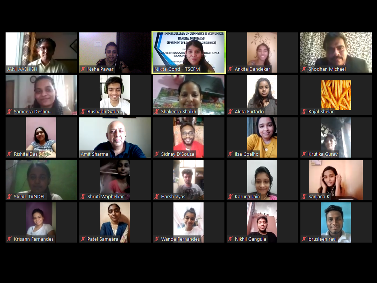 TSCFM organised an Online Seminar for the students of MMK college, Bandra