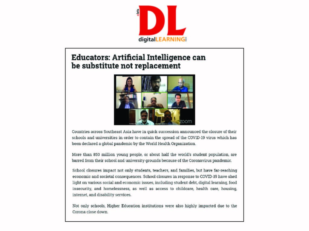 Educators: Artificial Intelligence can be substitute not replacement
