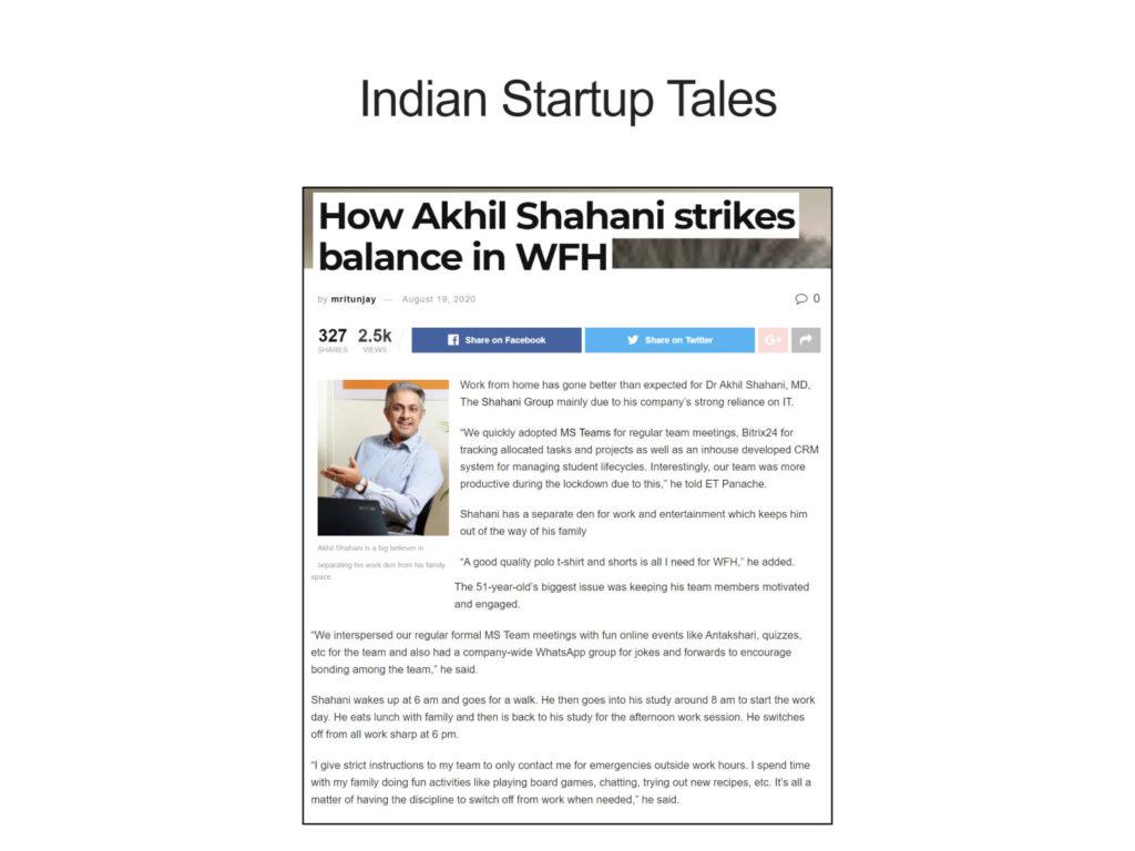 How Akhil Shahani strikes balance in WFH