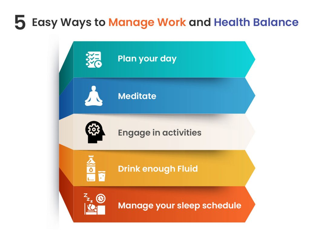 Ways to manage work and health for a better career