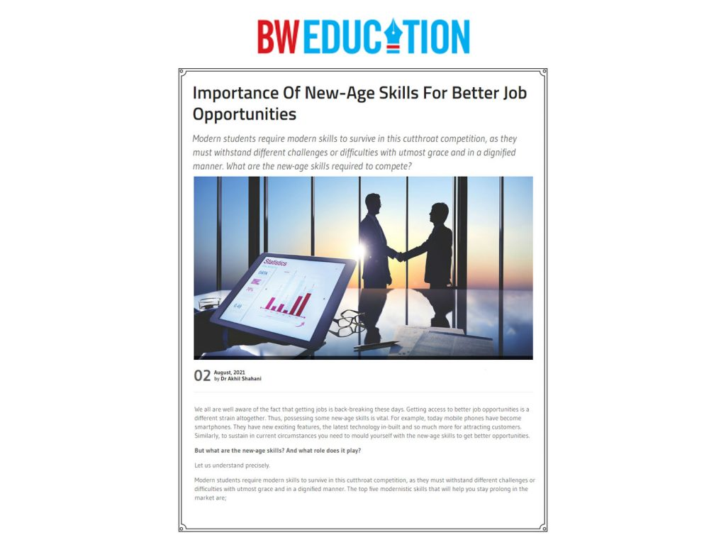 Importance Of New-Age Skills For Better Job Opportunities